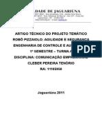 Robô Pizzaiolo - Artigo Técnico - Marcia Monteiro - 01-06-11_Cleber