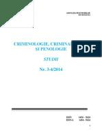 Criminalistica, Criminologie Si Penologie