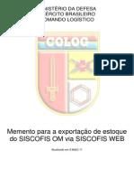 Memento Para Exportação de Estoque Do SISCOFIS OM