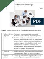 Ejercicio de Gestión de Proyectos Terminología