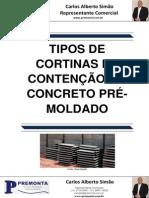 Tipos de Cortinas de Contenção Em Concreto Pré-Moldado