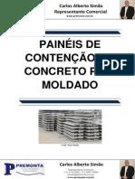 Painéis de Contenção Em Concreto Pré-Moldado