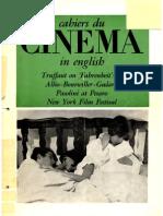 Cahiers Du Cinema in English 6 Dec 1966