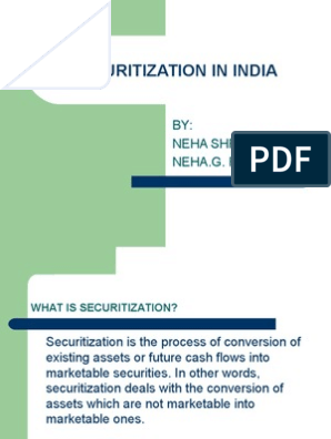 Securitization in India | Securitization | Asset Backed Security