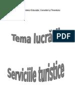 Serviciile Turistice
