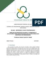 Relatório 1relatorio materiais - cristalografia