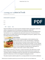Testing for Gluten in Foods - IfT