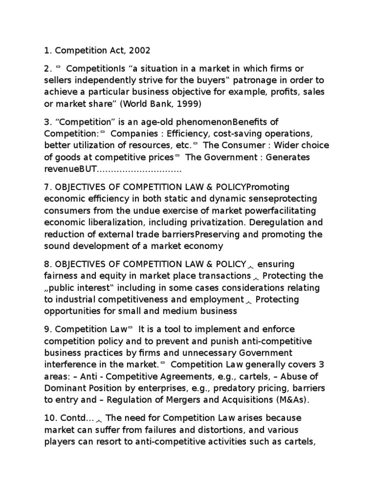 Compitition Act Competition Law Competition