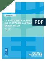 Diagnóstico. La participación política electoral de las mujeres en Paraguay.