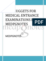 Few Nuggets for Medical Entrance Examinations by Medpgnotes