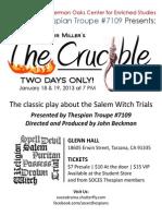 The Crucible Flyer