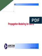 Propagation Modeling for Umts