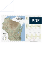 Wisconsin Tornado Track Map 1950-2005