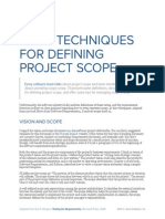 Four Techniques for Defining Project Scope