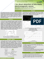 Plasma Detector for Direct Detection of Kilo-Watts Level Electromagnetic Waves - IPSTA 2015
