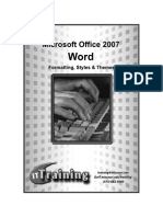 Word 2007 Formatting