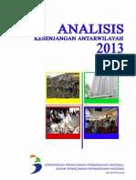 Analisis Kesenjangan Antar Wilayah 2013