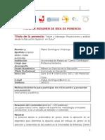 Ficha de Resumen de Idea de Ponencia Mabel Domínguez Villalonga