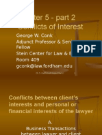 Chapter 5 Conflicts of Interest part 2  Professional Responsibility - A Contemporary Approach .Spring.2015