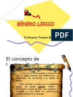 GÉNERO LIRICO