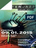 Winterjazz Koeln 2015 Programmheft