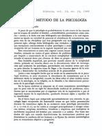 Sistema y fdhgMetodo de La Psicologia