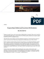 Ferguson Report Reflects and Exacerbates DOJ Retaliation