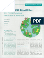 foreign languages and disabilities