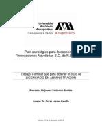 """Plan estratégico para la cooperativa """"Innovaciones navideñas SC de RL de CV"""""""