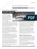 Water Taxi winter newsletter 2015
