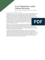 Tus Críticas en Tripadvisor Valen 11.500 Millones de Euros 28 02 2015