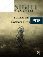 Insight RPG System Simplified Combat Rules