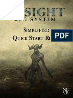 Insight RPG System Simplified Quick Start Rules