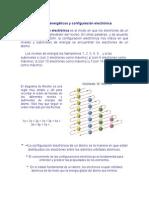 Niveles Energéticos y Configuración Electrónica