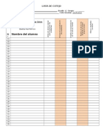 Lista de Cotejo Matemáticas