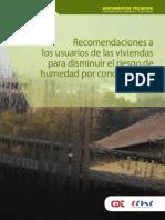 Recomendaciones a los usuarios de las viviendas para disminuir el riesgo de humedad por condensación CDT