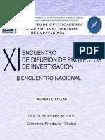XI Encuentro ILLPAT 2015 - 1º Circular