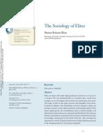 The Sociology of Elites