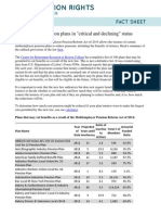 Fact Sheet - Multiemployer Pension Plans in Critical and Declining Status