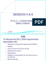 MLC Condition of Employment by MCA
