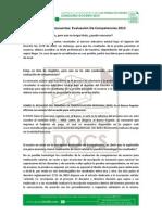 Preguntas frecuentes  Evaluacion De Competencias 2013.pdf