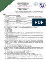 ThirdGP Exam - MAPEH 7