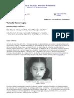 Articulo de Varicela Hemorragica