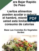 Dietas para bajar de peso rapido caseras urbanas