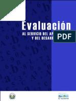 Evaluación Al Servicio Del Aprendizaje y Del Desarrollo