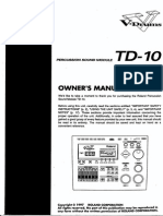 Roland TD-10 Owner's Manual (English)
