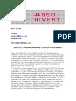 osudivest condemns attempts to stifle student speech