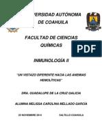 Monografia ANEMIA AUTOHEMOLITICA