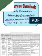 Matriz Curricular Diversificado de Matemática_1º Año_ED
