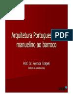 Arq Portuguesa Manuelino Barroco